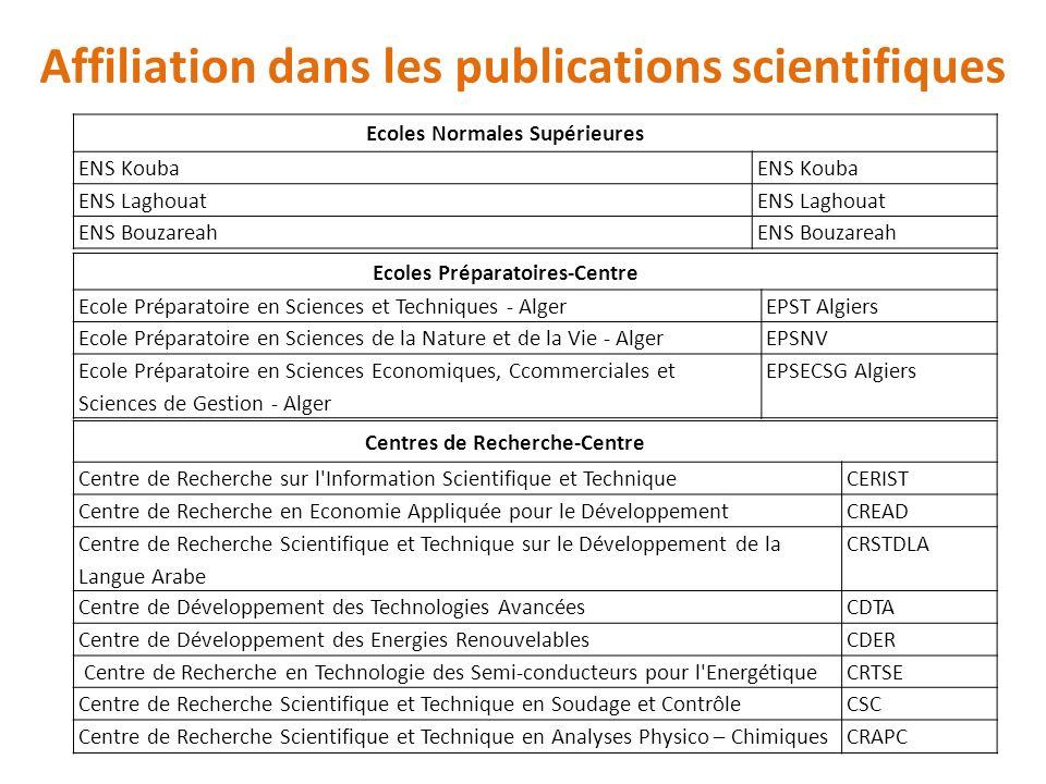Ecoles Normales Supérieures ENS Kouba ENS Laghouat ENS Bouzareah Ecoles Préparatoires-Centre Ecole Préparatoire en Sciences et Techniques - AlgerEPST