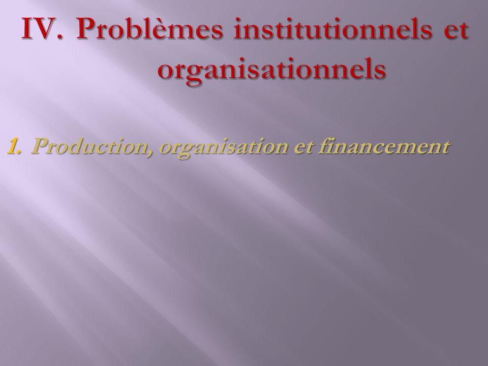 1.Production, organisation et financement