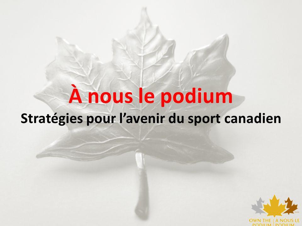 À nous le podium Stratégies pour lavenir du sport canadien