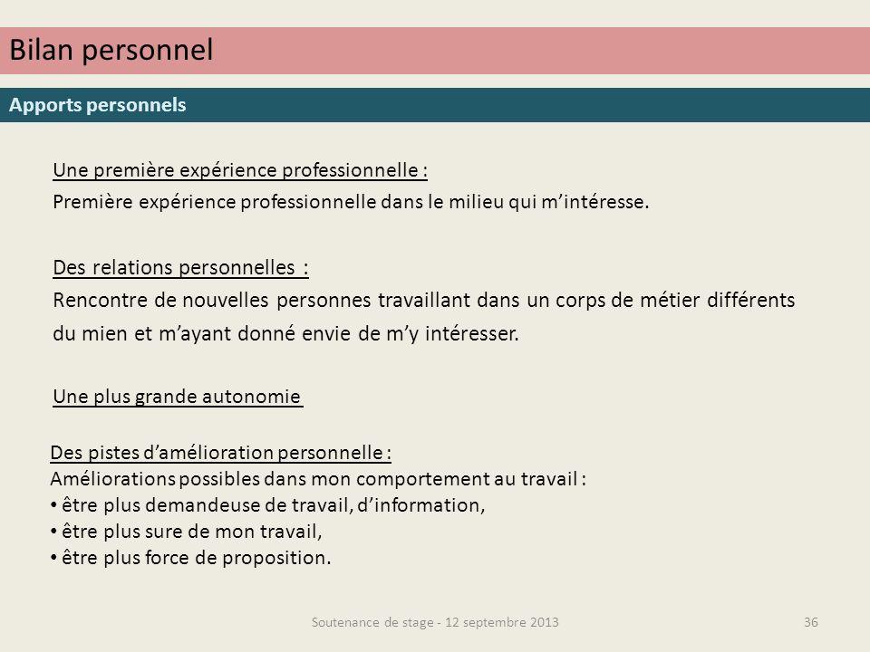 MERCI DE VOTRE ATTENTION ! Soutenance de stage - 12 septembre 201337