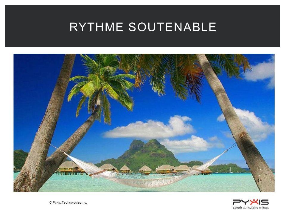 © Pyxis Technologies inc. RYTHME SOUTENABLE