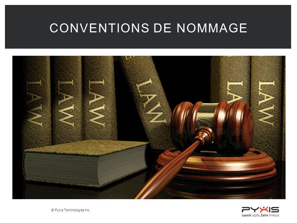 © Pyxis Technologies inc. CONVENTIONS DE NOMMAGE