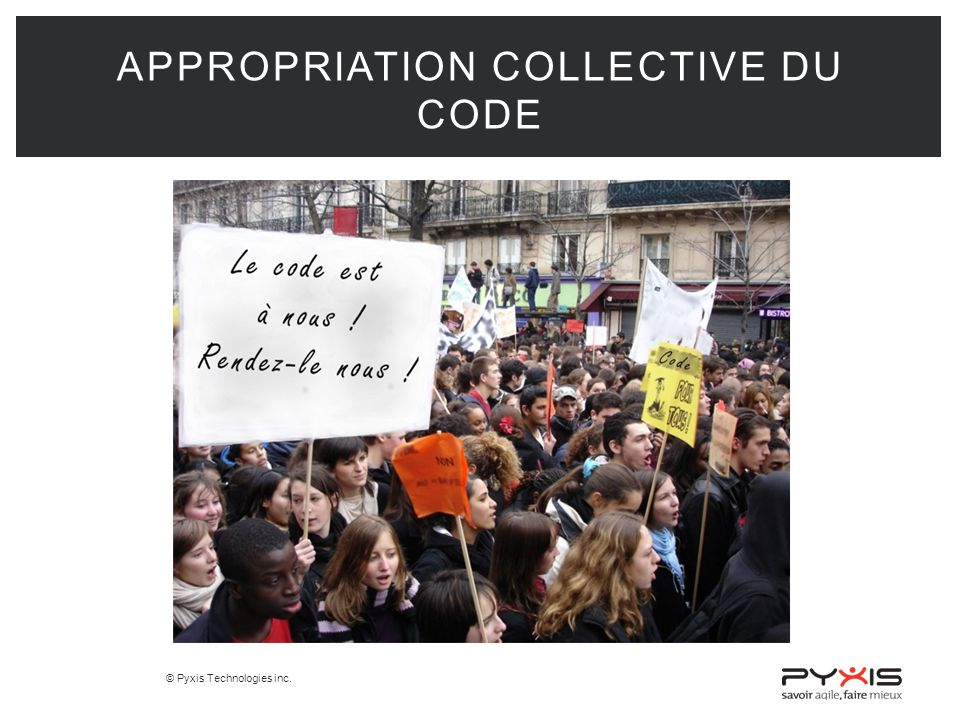 © Pyxis Technologies inc. APPROPRIATION COLLECTIVE DU CODE