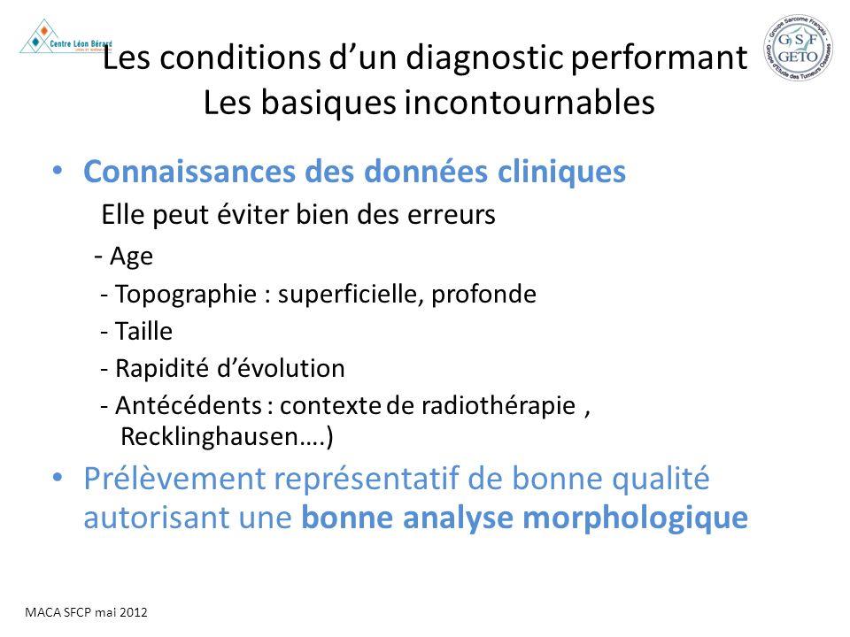 MACA SFCP mai 2012 Les conditions dun diagnostic performant Les basiques incontournables Connaissances des données cliniques Elle peut éviter bien des