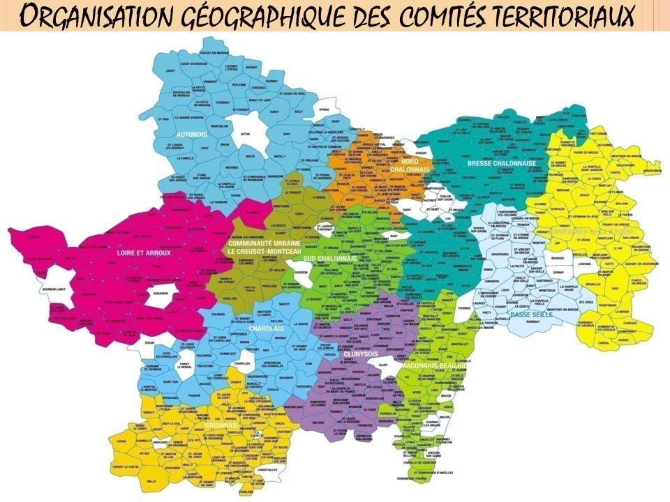 O RGANISATION GÉOGRAPHIQUE DES COMITÉS TERRITORIAUX 2