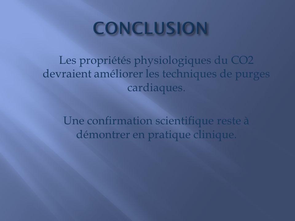 Les propriétés physiologiques du CO2 devraient améliorer les techniques de purges cardiaques.