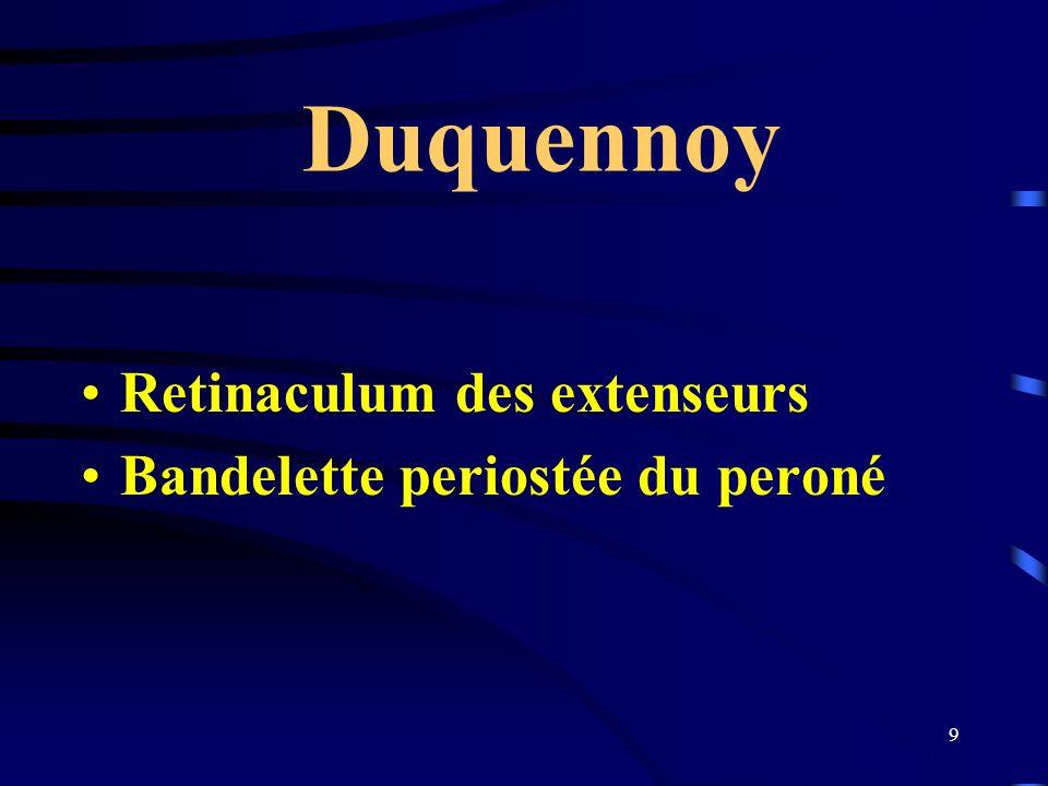 9 Duquennoy Retinaculum des extenseurs Bandelette periostée du peroné