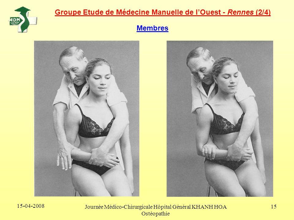 15-04-2008 Journée Médico-Chirurgicale Hôpital Général KHANH HOA Ostéopathie 15 Membres Groupe Etude de Médecine Manuelle de lOuest - Rennes (2/4)