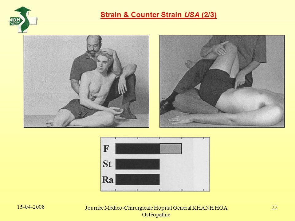 15-04-2008 Journée Médico-Chirurgicale Hôpital Général KHANH HOA Ostéopathie 22 Strain & Counter Strain USA (2/3)