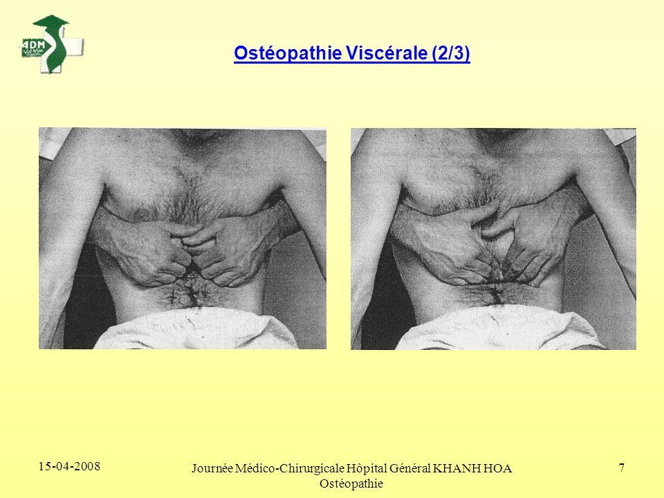 15-04-2008 Journée Médico-Chirurgicale Hôpital Général KHANH HOA Ostéopathie 7 Ostéopathie Viscérale (2/3)