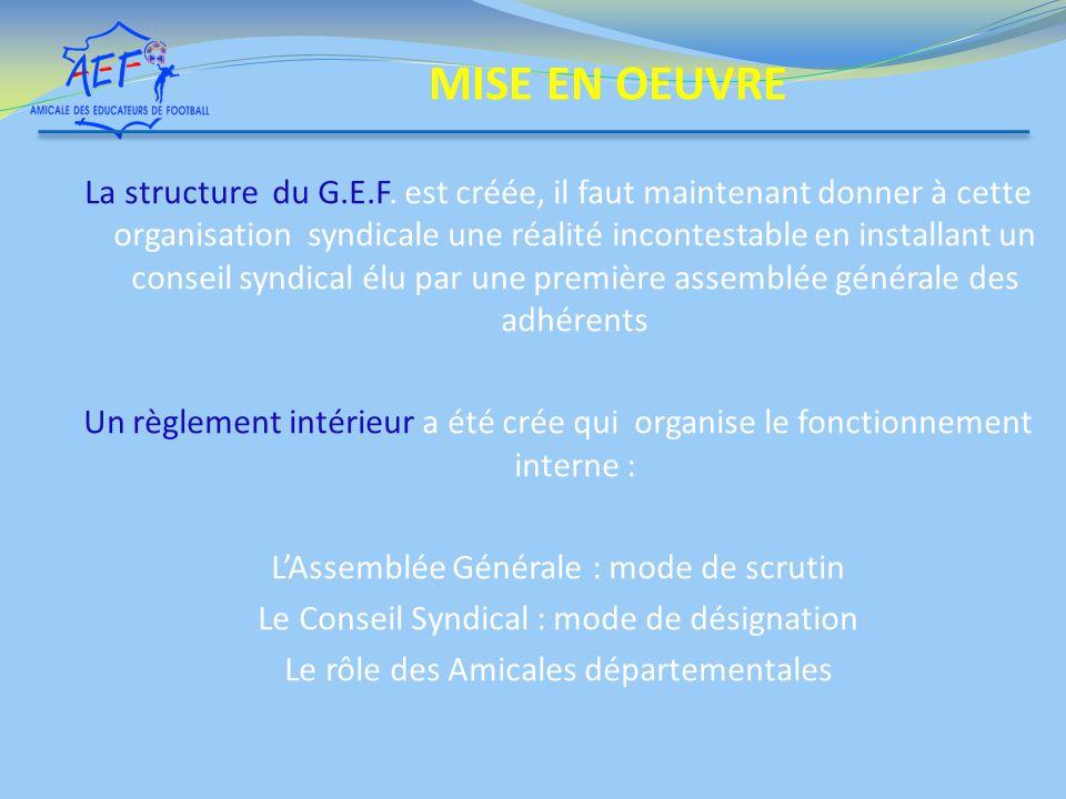 La structure du G.E.F.