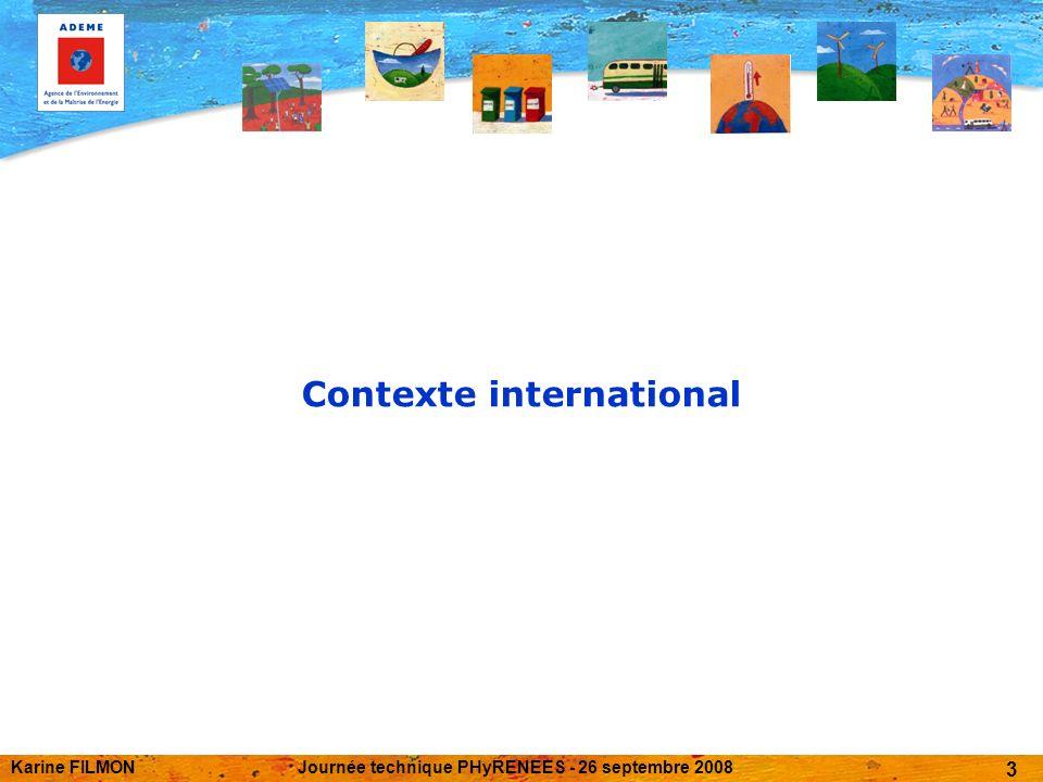 Karine FILMONJournée technique PHyRENEES - 26 septembre 2008 3 Contexte international