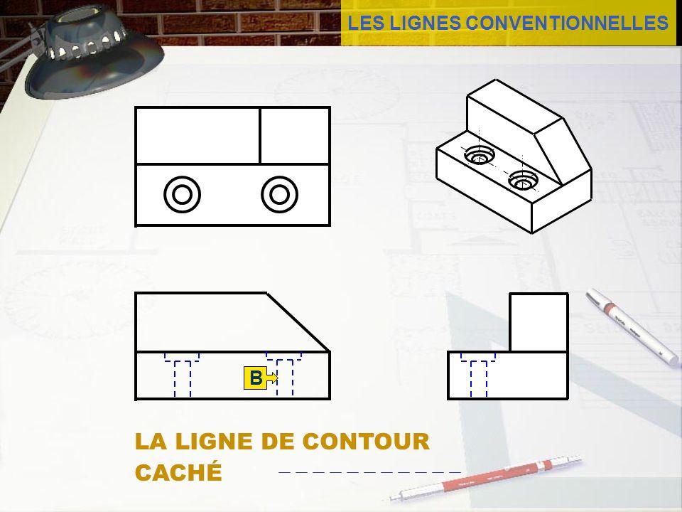 LES LIGNES CONVENTIONNELLES B B LA LIGNE DE CONTOUR CACHÉ