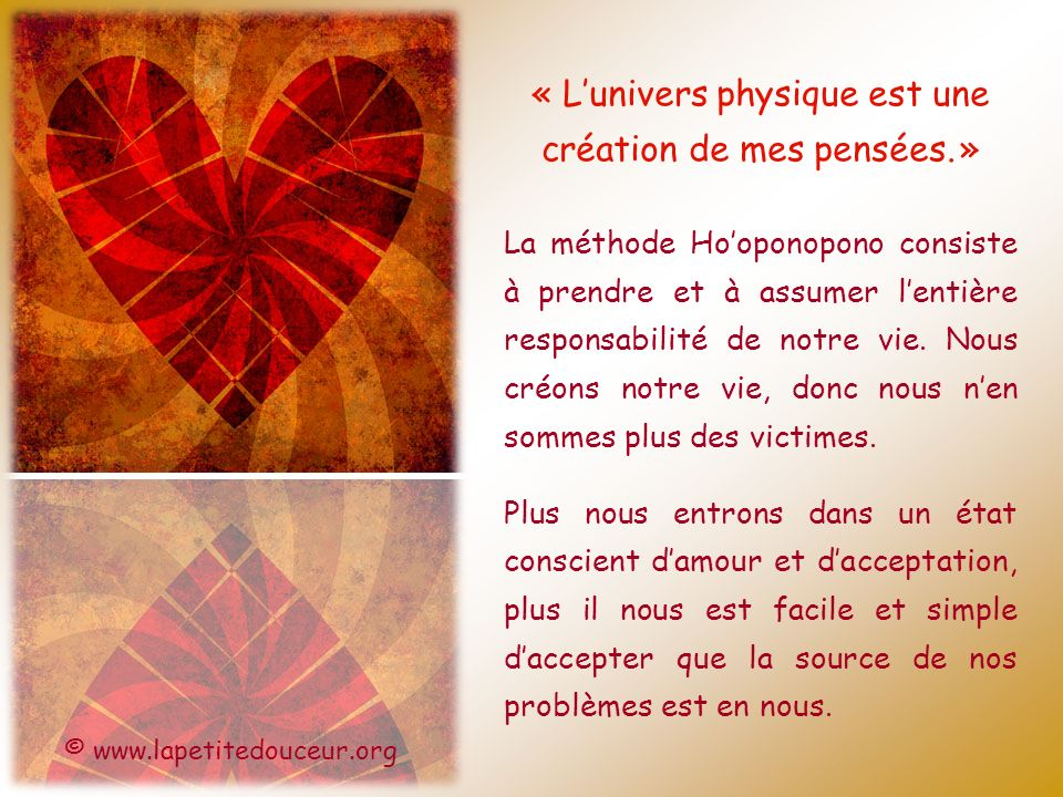 « Lunivers physique est une création de mes pensées.