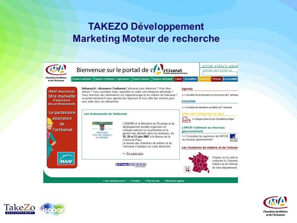 TAKEZO Développement Marketing Moteur de recherche