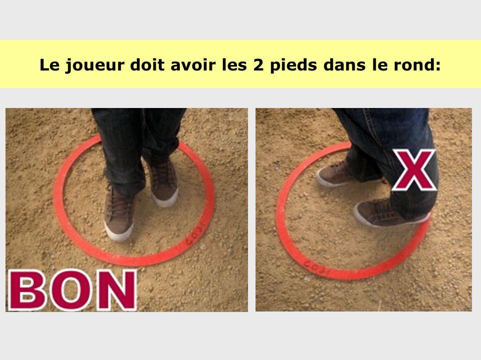 Le diamètre du cercle doit être compris entre 35 et 50cm