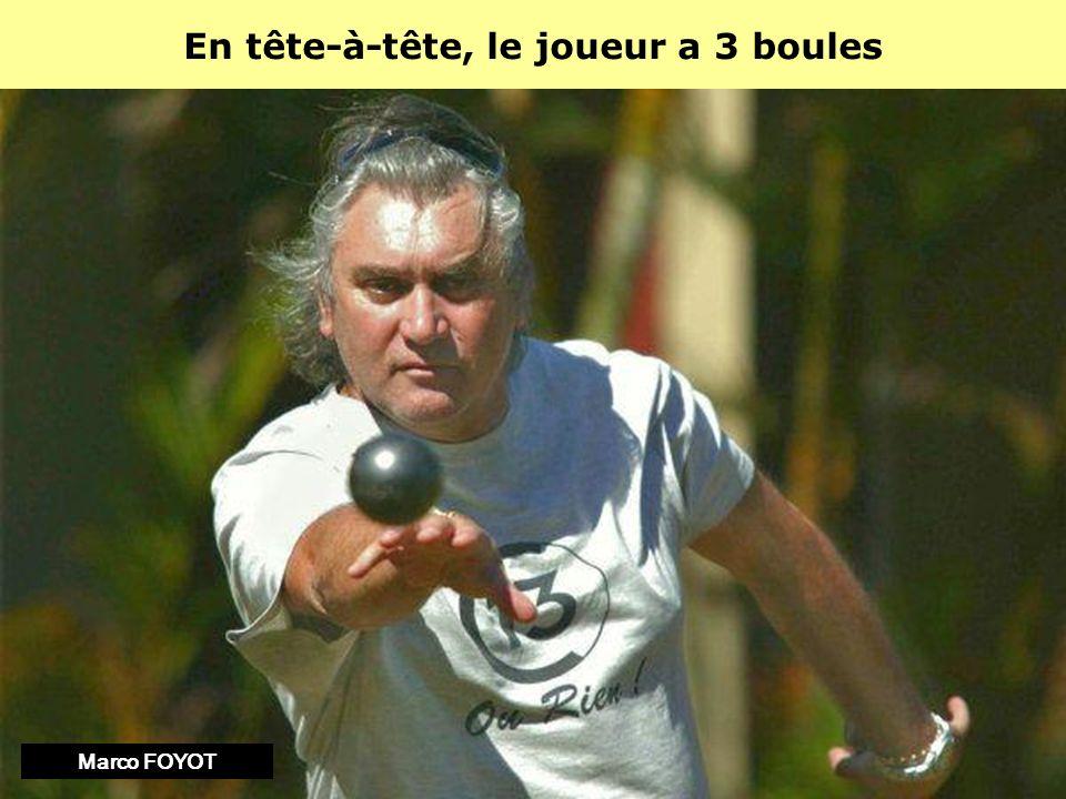 Dans une doublette, chaque joueur a 3 boules Philippe QUINTAISDylan Rocher