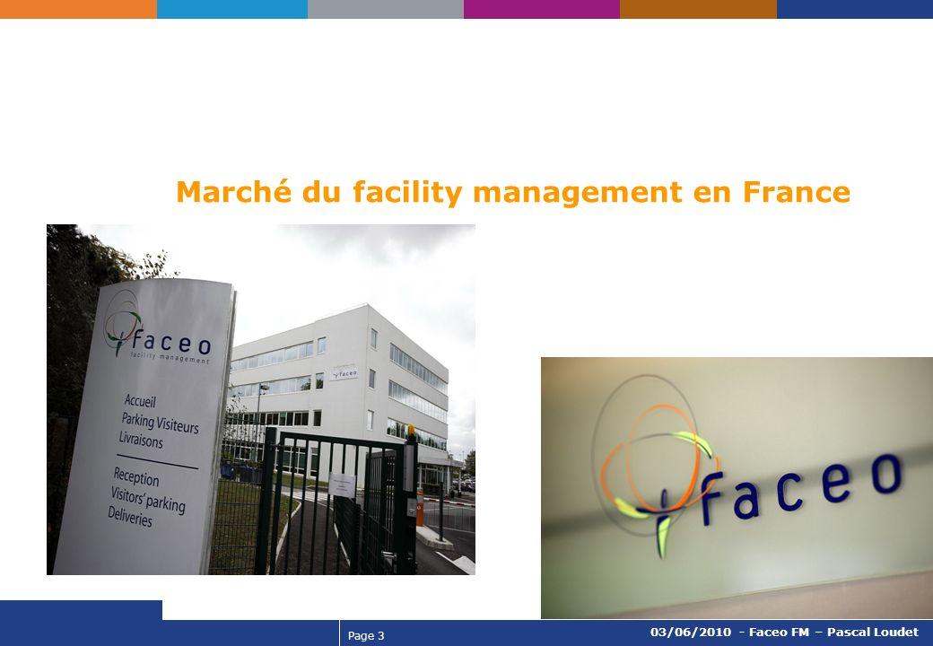Page 3 03/06/2010 - Faceo FM – Pascal Loudet Marché du facility management en France