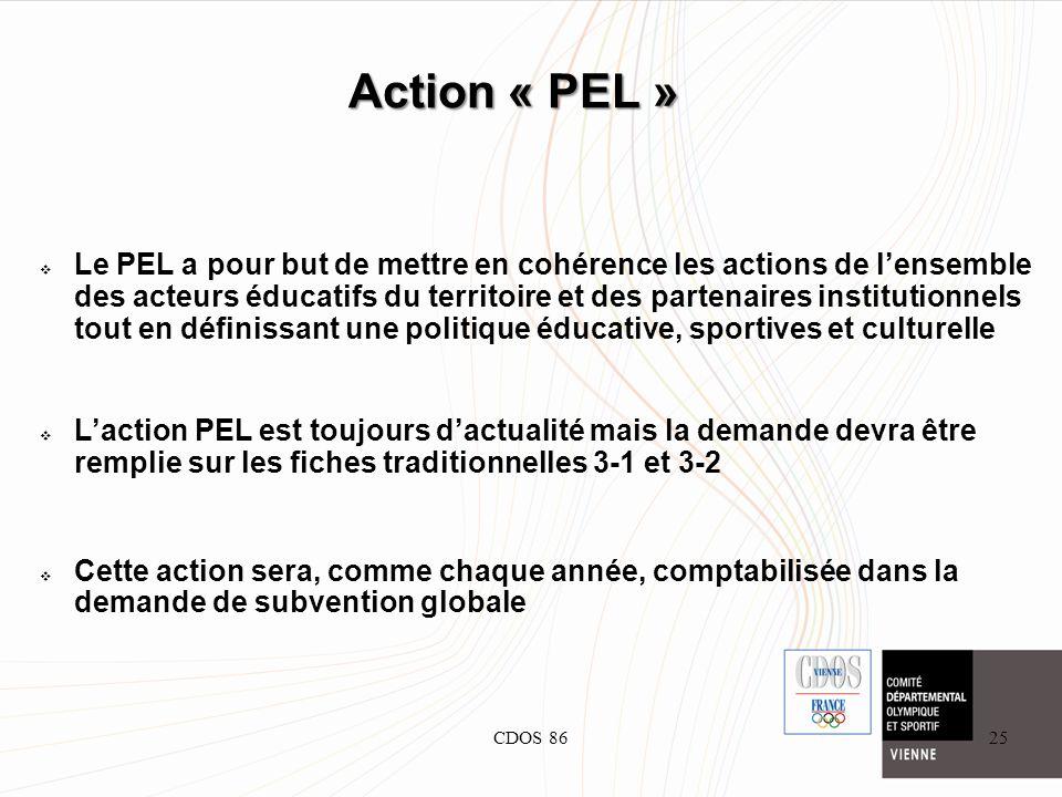 CDOS 8625 Action « PEL » Le PEL a pour but de mettre en cohérence les actions de lensemble des acteurs éducatifs du territoire et des partenaires inst