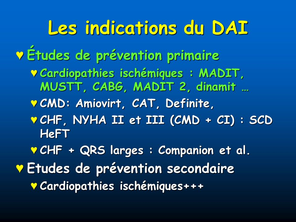 CAD (MI 1 month), LVEF 0.3 R* ICD (742) Conventional (490) + EEP Follow-up (mean : around 2 years) β-, ACE inhibitors, no AA MADIT II trial (NEJM 2002;346:873-83) 1 232 patients : 3 :2 ratio