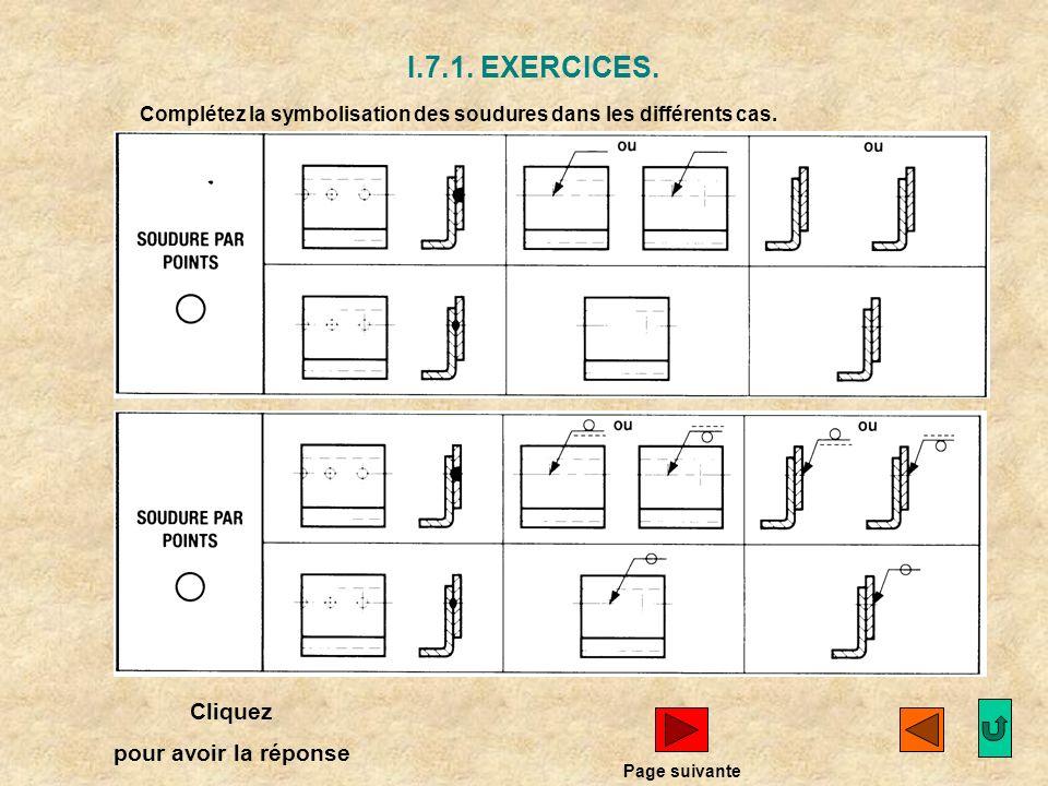 I.7. Position du symbole par rapport à la ligne de référence. EXERCICES