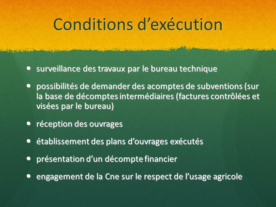 Conditions dexécution surveillance des travaux par le bureau technique surveillance des travaux par le bureau technique possibilités de demander des a