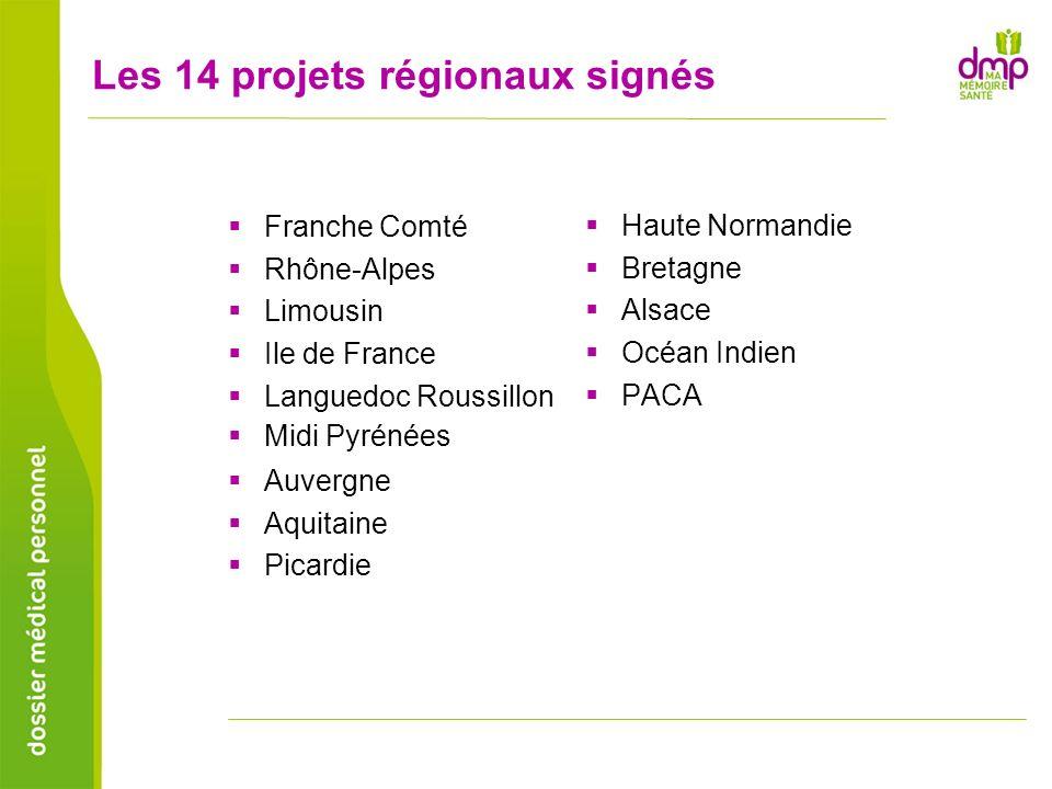 Les 14 projets régionaux signés Franche Comté Rhône-Alpes Limousin Ile de France Languedoc Roussillon Midi Pyrénées Auvergne Aquitaine Picardie Haute