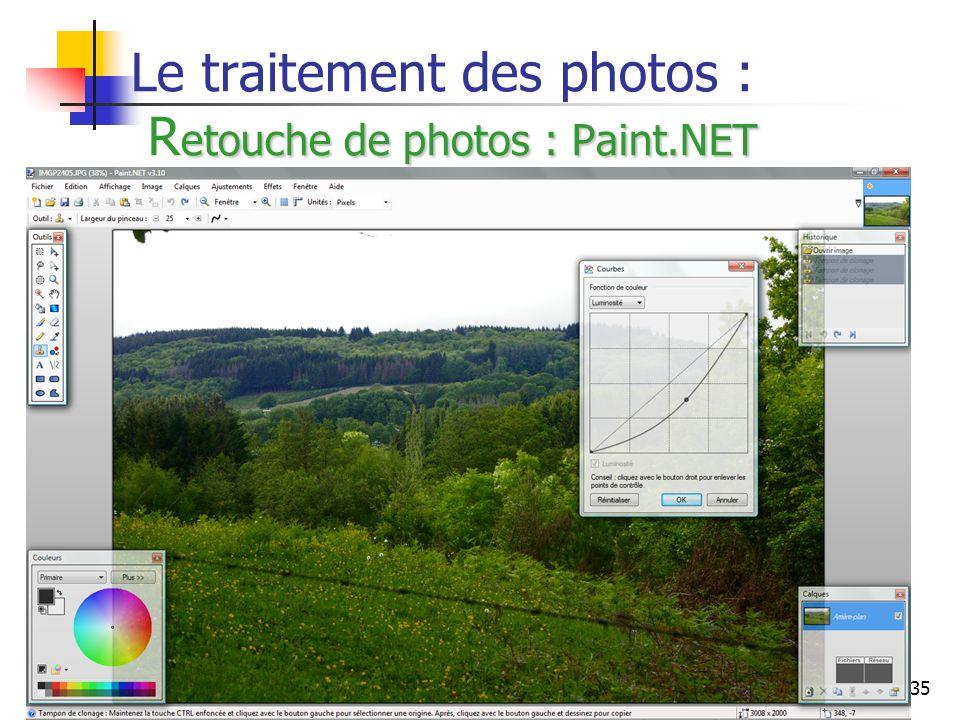 35 etouche de photos : Paint.NET Le traitement des photos : R etouche de photos : Paint.NET