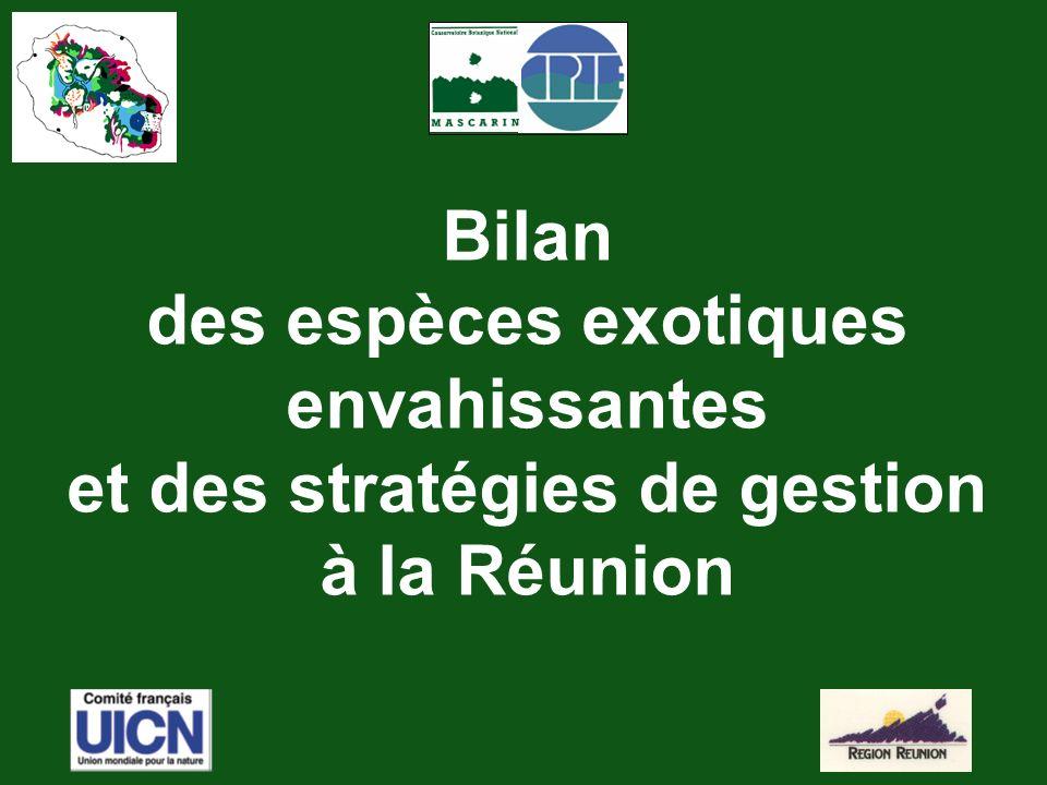 Bilan des espèces exotiques envahissantes et des stratégies de gestion à la Réunion