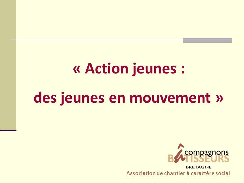 « Action jeunes : des jeunes en mouvement » Association de chantier à caractère social
