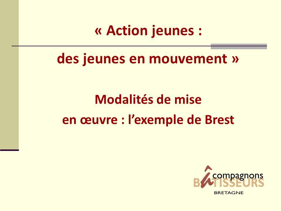 « Action jeunes : des jeunes en mouvement » Modalités de mise en œuvre : lexemple de Brest