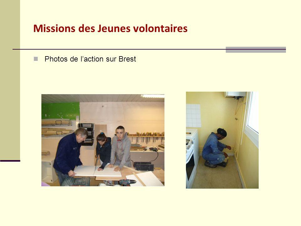 Missions des Jeunes volontaires Photos de laction sur Brest