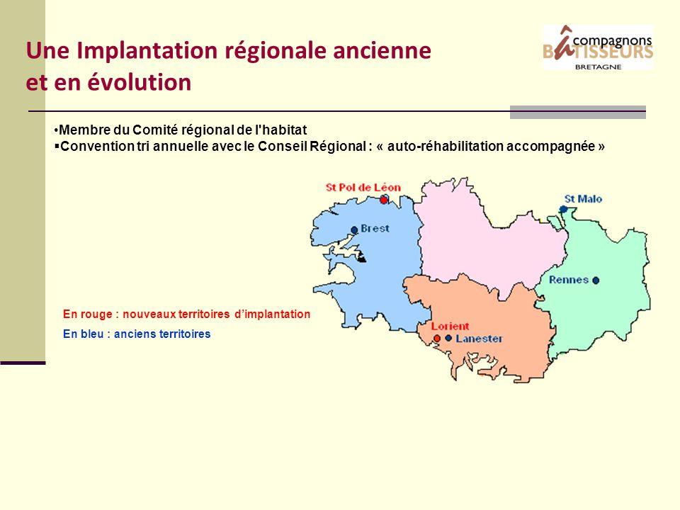 Une Implantation régionale ancienne et en évolution Membre du Comité régional de l'habitat Convention tri annuelle avec le Conseil Régional : « auto-r