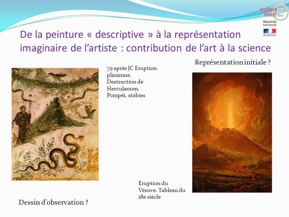 De la peinture « descriptive » à la représentation imaginaire de lartiste : contribution de lart à la science 79 après JC Eruption plinienne. Destruct