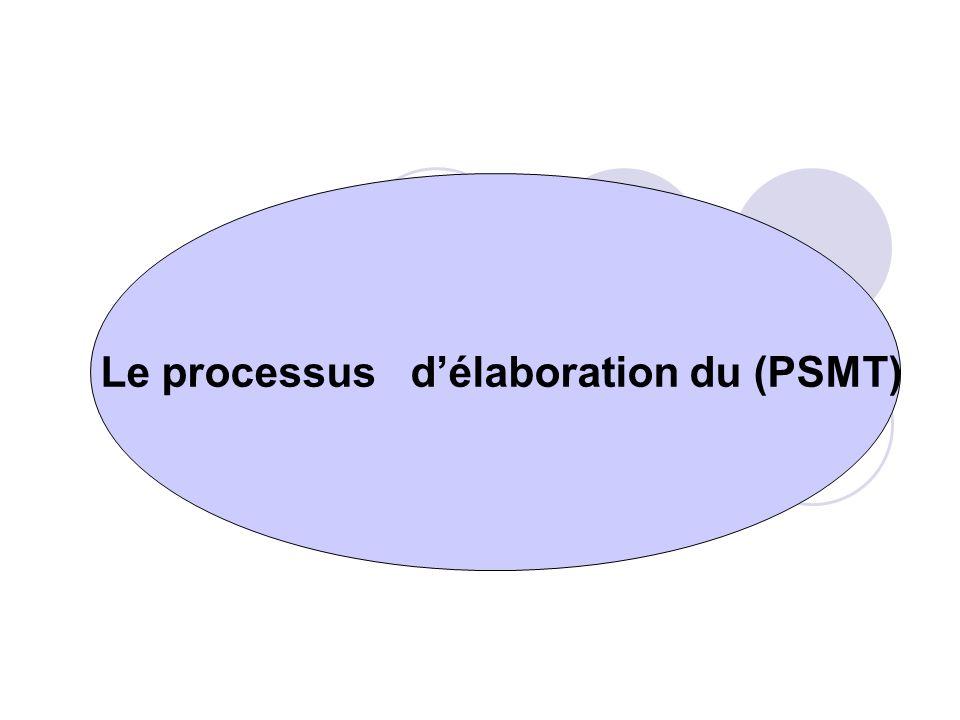 Le processus délaboration du (PSMT)