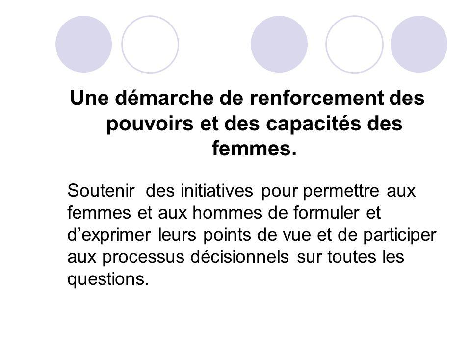 Une démarche corrective En prenant des mesures qui ciblent à répondre aux besoins spécifiques des femmes, dans la perspective déliminer les discriminations fondées sur le sexe