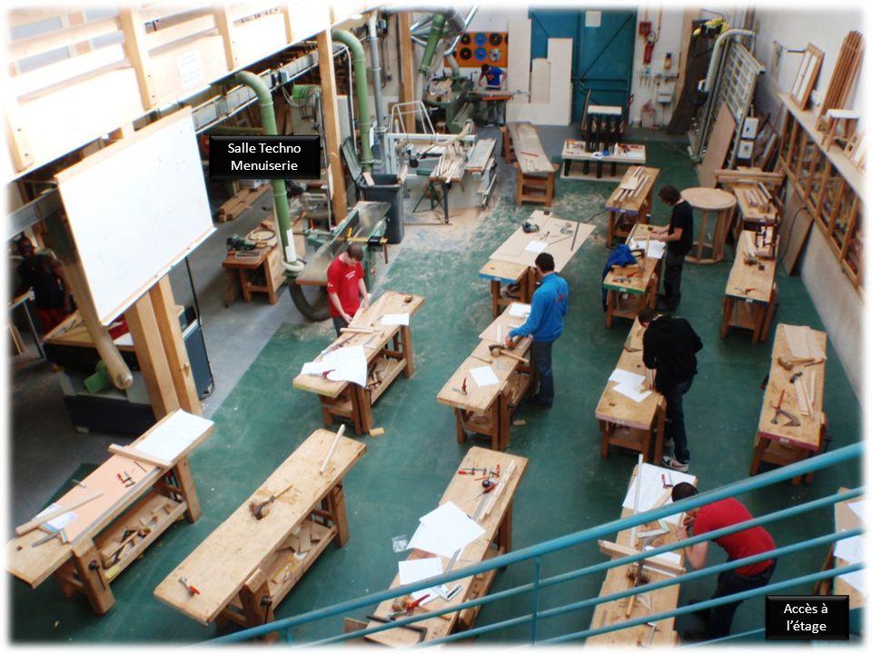 Accès à létage Accès à létage Salle Techno Menuiserie Salle Techno Menuiserie