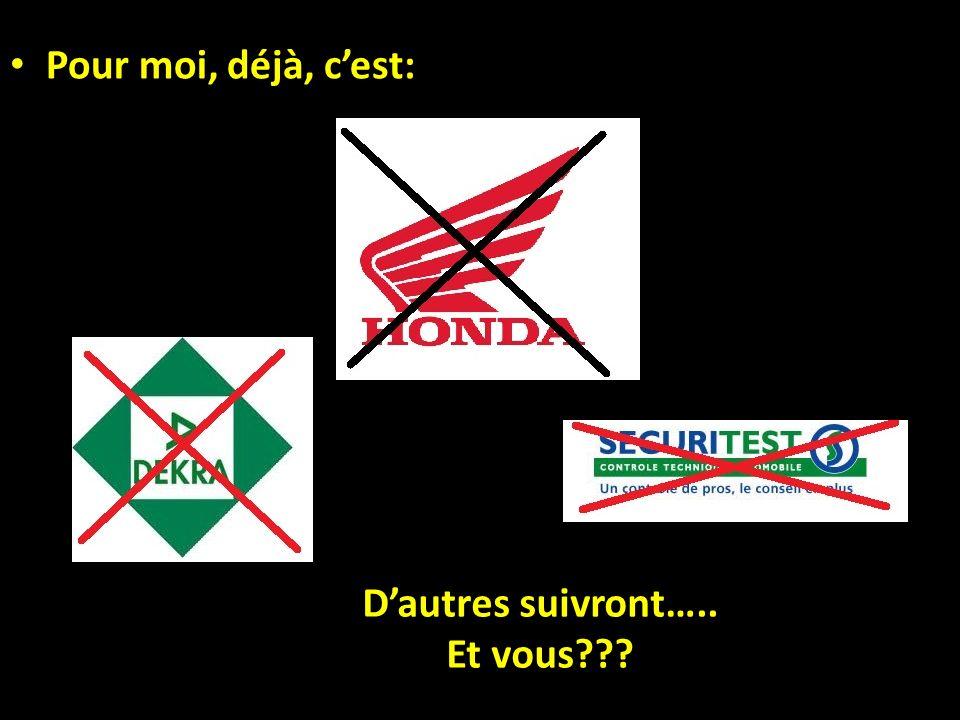 Faites aussi savoir votre mécontentement à Honda.