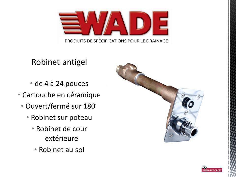 Robinet antigel de 4 à 24 pouces Cartouche en céramique Ouvert/fermé sur 180° Robinet sur poteau Robinet de cour extérieure Robinet au sol