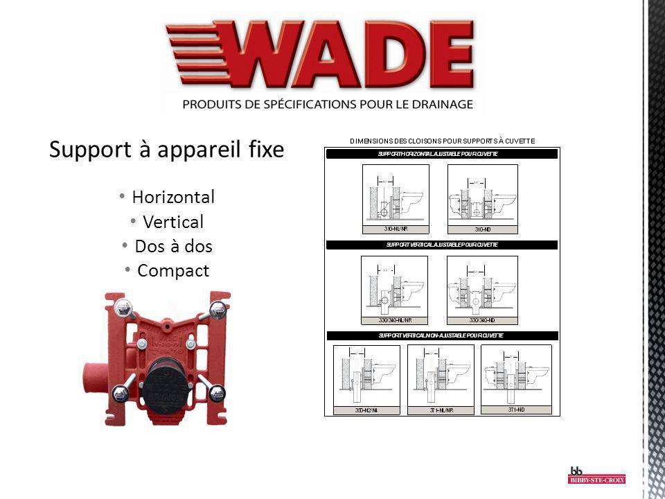 Support à appareil fixe Horizontal Vertical Dos à dos Compact