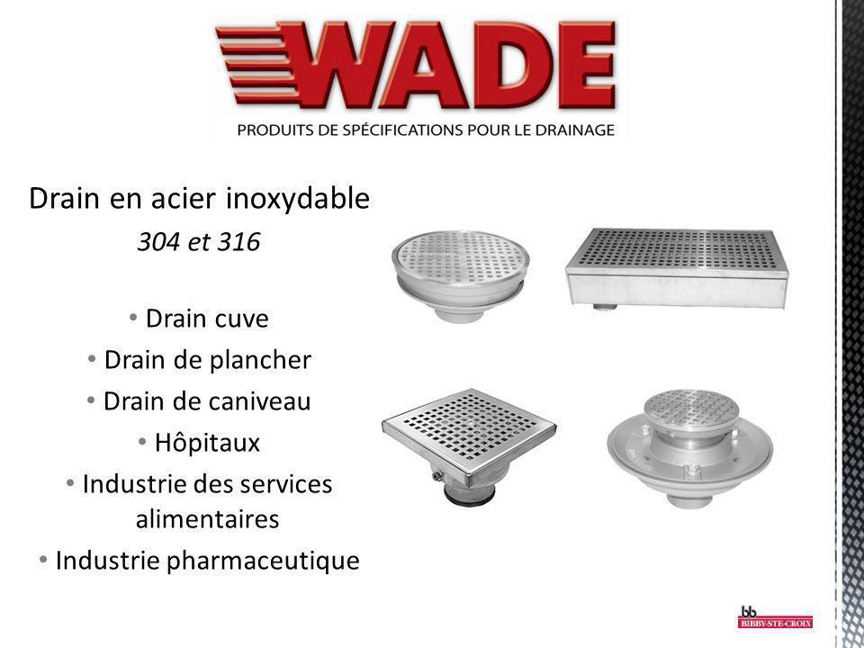 Drain en acier inoxydable 304 et 316 Drain cuve Drain de plancher Drain de caniveau Hôpitaux Industrie des services alimentaires Industrie pharmaceuti