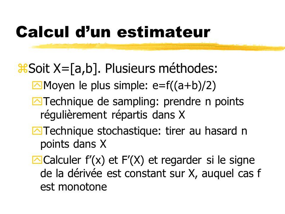 Insertion dun élément zPlusieurs possibilités pour insérer: yFirst In First Out yEn fonction de la taille de lintervalle (le plus grand en tête) yEn fonction de lestimateur (le plus petit en tête) yEn fonction de la borne inférieure (la plus petite en premier) yetc…