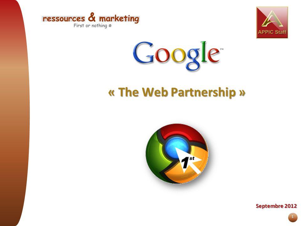 1 « The Web Partnership » Septembre 2012