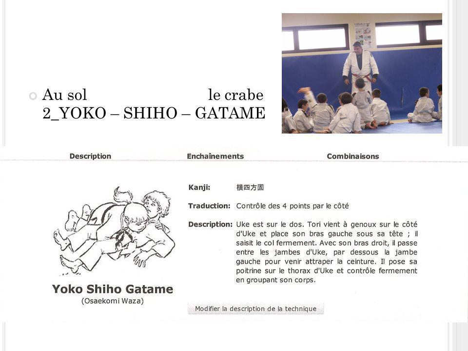 Au sol le crabe 2_YOKO – SHIHO – GATAME