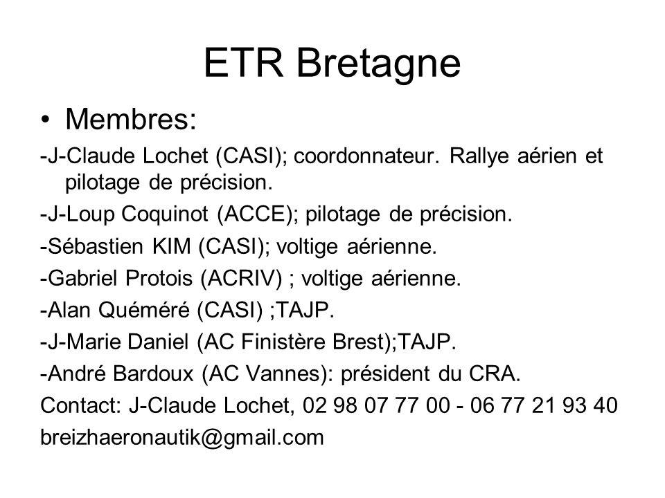ETR Bretagne Membres: -J-Claude Lochet (CASI); coordonnateur.