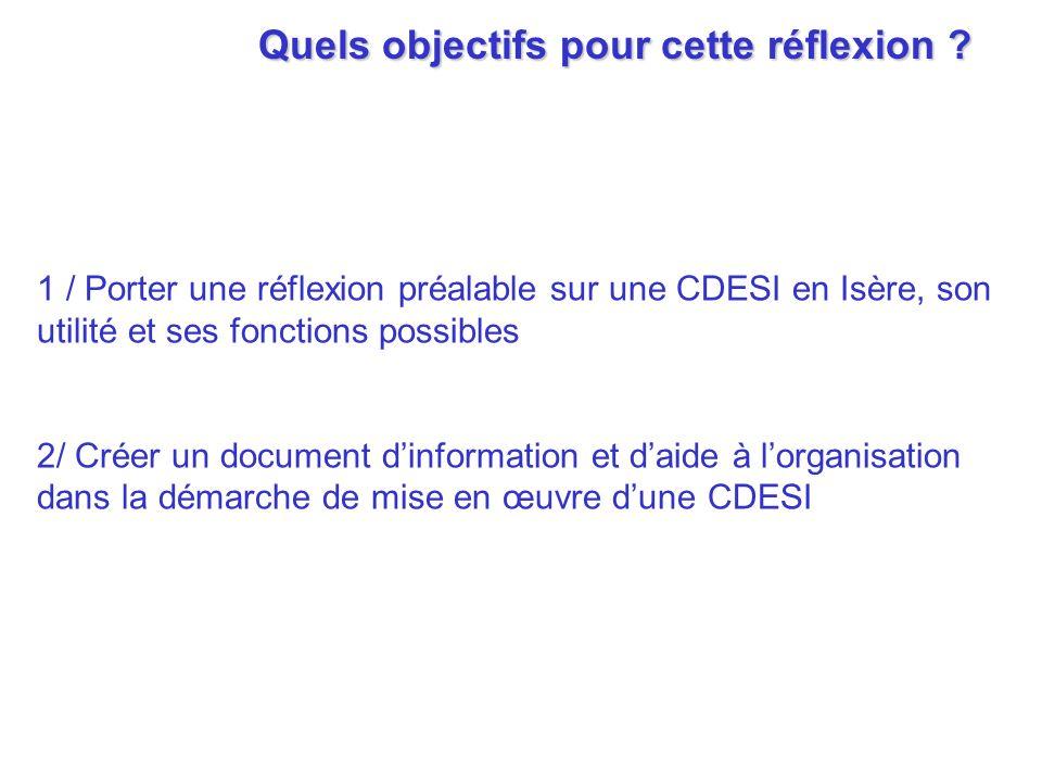 La CDESI : quelles missions, quelles compétences .