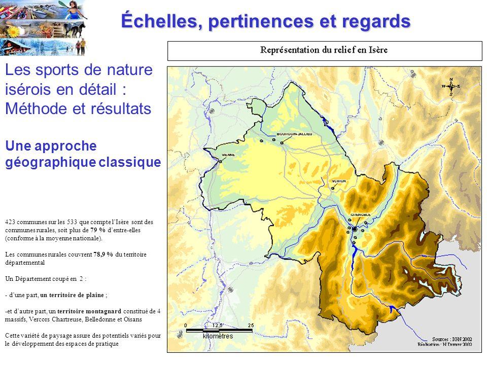 Échelles, pertinences et regards Échelles, pertinences et regards 423 communes sur les 533 que compte lIsère sont des communes rurales, soit plus de 79 % dentre-elles (conforme à la moyenne nationale).