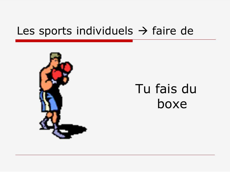 Les sports individuels faire de Tu fais du boxe