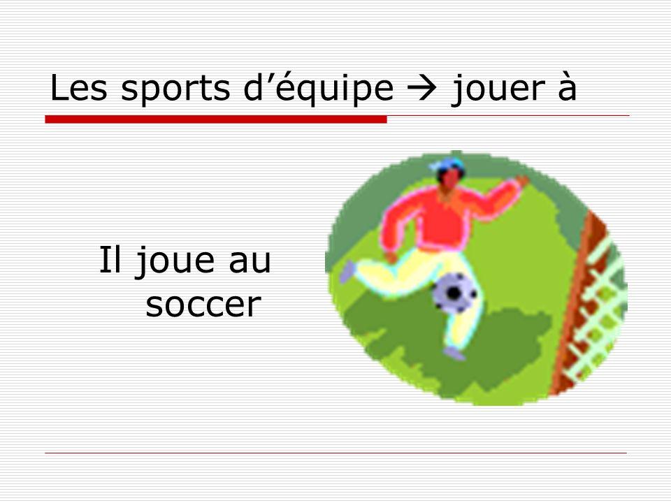 Les sports déquipe jouer à Il joue au soccer