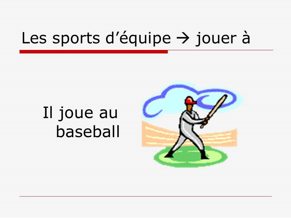 Les sports déquipe jouer à Il joue au baseball